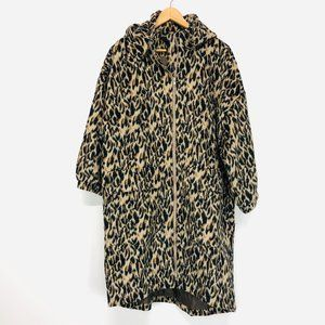 TOV HOLY Cheetah Print Mid-Length Coat